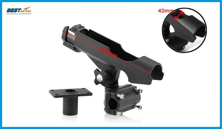BSET MATEL 2X Rest Adjustable Removable 360 degree Fishing  Rod rack Holder Kayak Boat Support Tools Accessories Pole Bracket enlarge