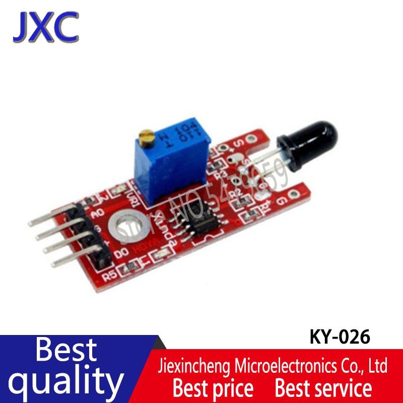5 piezas KY-026 Módulo Sensor de llama Detector de Sensor IR para detección de temperatura adecuado para Arduino nuevo original