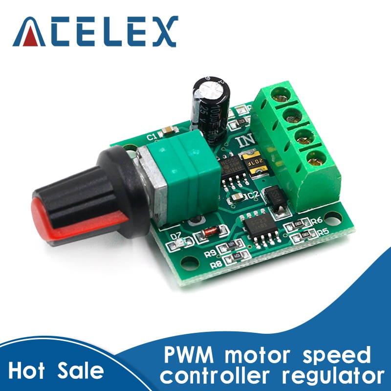 DC 1.8V 3V 5V 6V 12V 2A PWM Motor Speed Controller Low Voltage Motor Speed Control Switch PWM Adjust