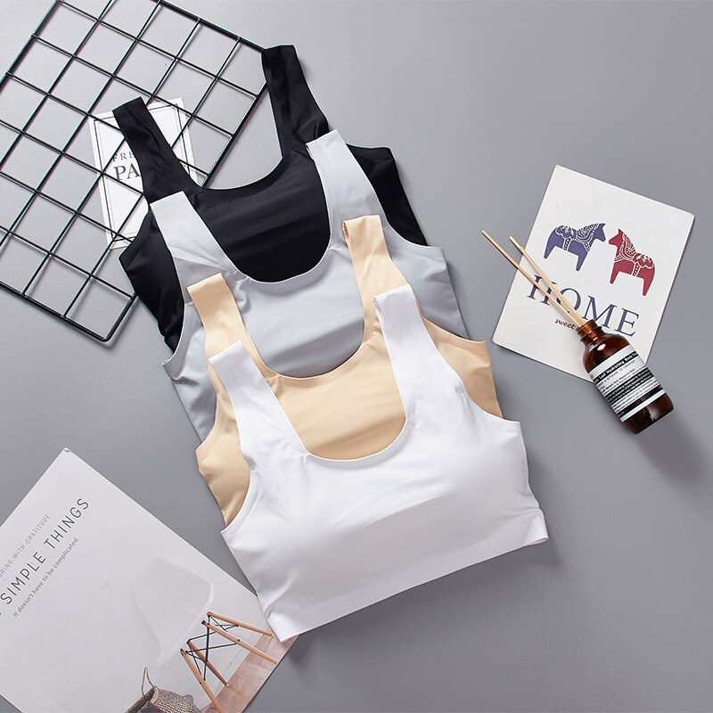 Seamless Women Tube Top Lingerie U Shape Back Bra Comfort Wireless Underwear Cropped Camis Top Tanks Top