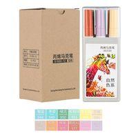 12 Colors Acrylic Paint Art Marker Pen for DIY Graffiti Glass Ceramic Art Painting Drawing Stationery