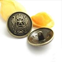 200 pcs five pointed star double lion metal buttons spot wholesale coat windbreaker green bronze retro button for dress 18 28mm