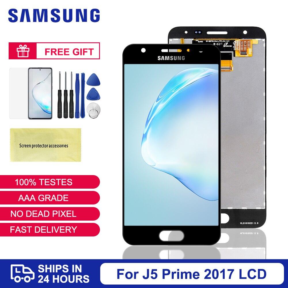 شاشة إل سي دي G570 G570F G570M تعمل باللمس لمجموعة, شاشة أصلية لهاتف Samsung J5 إل سي دي ممتاز G570 G570F G570M شاشة تعمل باللمس لمجموعة سامسونغ غلاكسي J5 إل سي دي ...