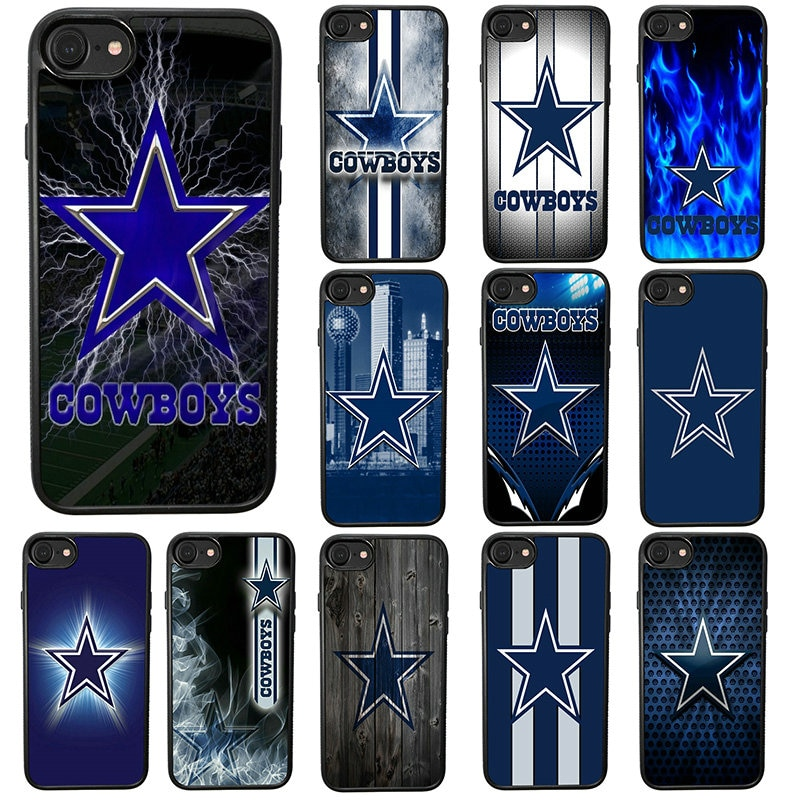 Carcasa de lujo para teléfono móvil de Dallas Cowboys, carcasa rígida de TPU para iphone 8 7 6 6S Plus X XR XS 11 Pro Max 5S 5 SE 4 4S