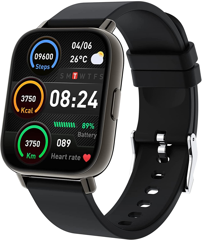 Togala ساعة ذكية ، 1.69 بوصة تعمل باللمس ساعة ذكية للهواتف أندرويد و iOS ، جهاز تعقب للياقة البدنية مع معدل ضربات القلب والنوم