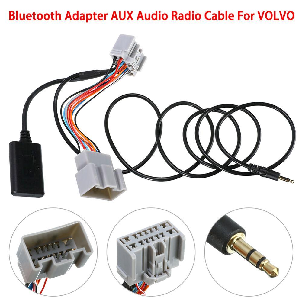 Cable auxiliar de Audio receptor de Audio de coche de 14 pines para Volvo C30/S40/V40/V50/S60/S70/C70 adaptador de receptor Bluetooth automático para Dropshipping