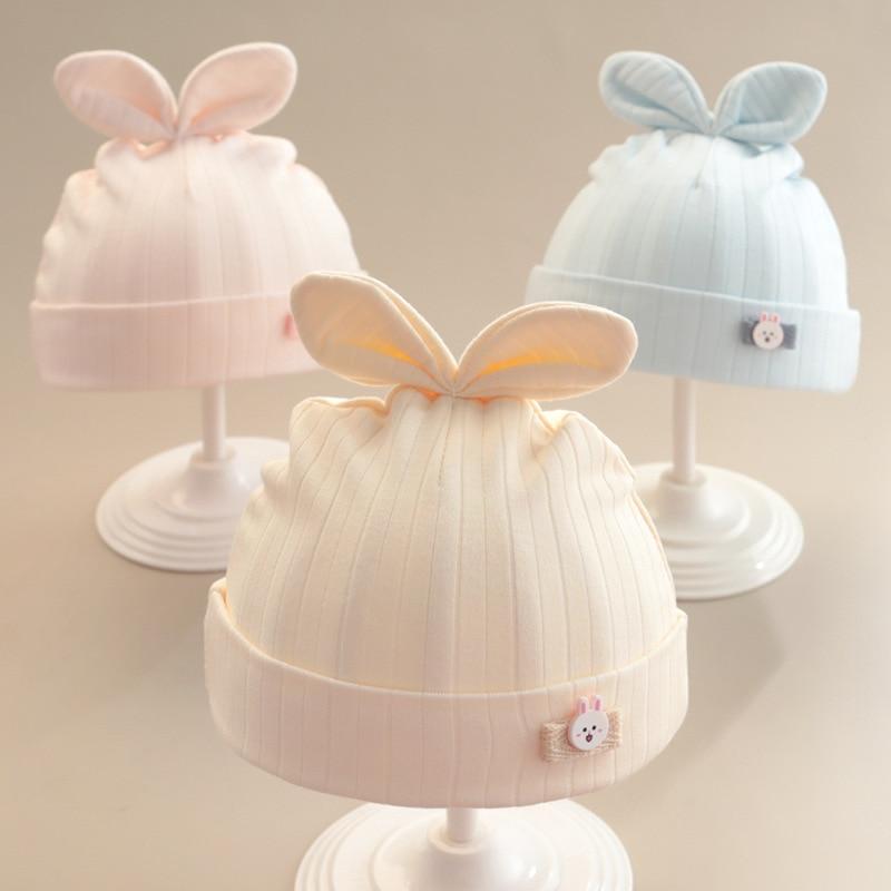 Baby Hat Cotton Newborn Fetal Cap Spring And Autumn Thin Section Girl Cute Super Summer Boy