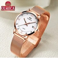 top brand luxury women watches olmeca watch fashion relogio feminino casual montre femme waterproof wrist watch leather band