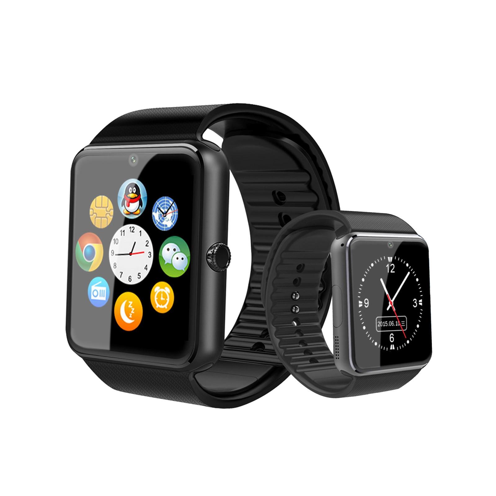 GT08 Bluetooth Смарт часы телефон Andriod IOS сенсорный экран поддержка sim карты TF карта памяти с камерой Смарт часы GT08 часы Смарт-часы      АлиЭкспресс