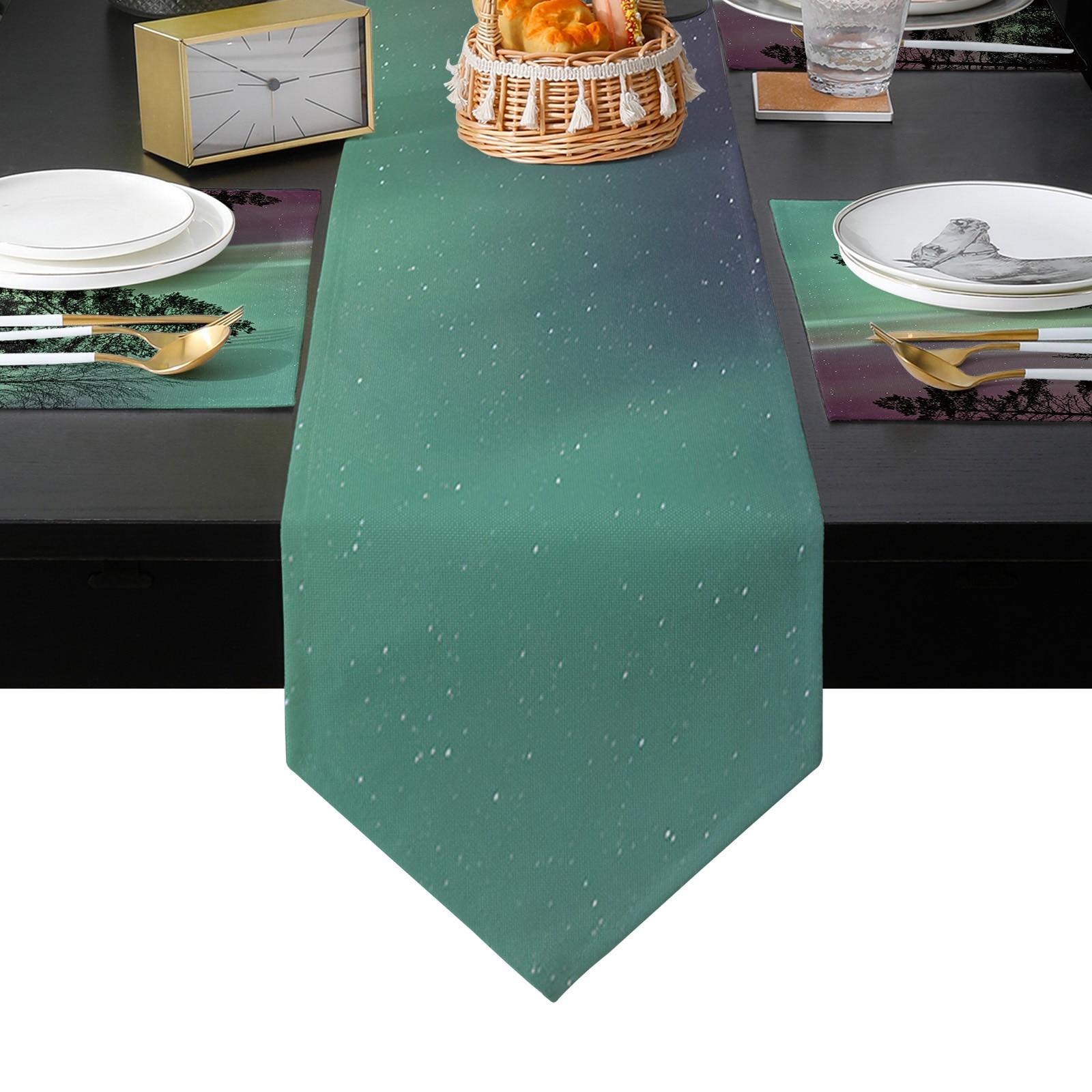 أورورا مشهد الجدول عداء الجدول الحصير غطاء للمنزل الزفاف مأدبة مهرجان حفلة التموين فندق الجدول الديكور