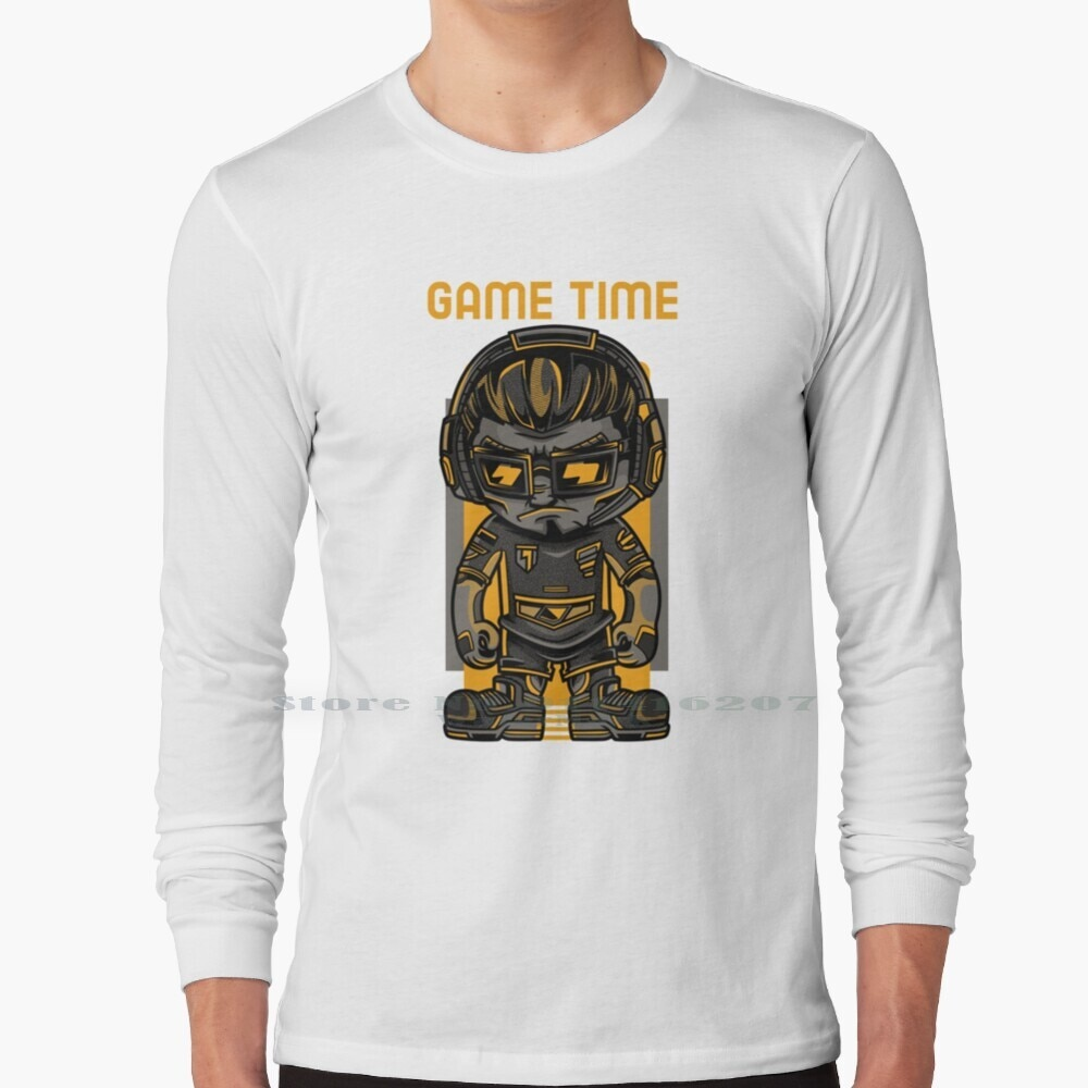 Game Time Long Sleeve T Shirt Game Gaming E Game Ps4 Pc Activision Play Game Lovers Social Media Battle Challenge