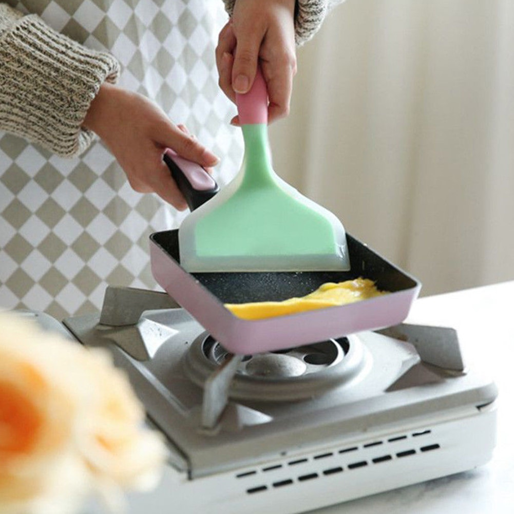 Sartén espátula para torneros sartén para tortilla utensilios de cocina útiles crema antiadherente pastel de mantequilla utensilios de cocina de silicona
