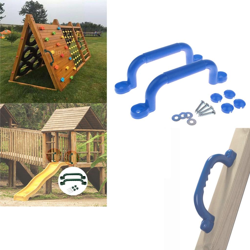 1 пара детских игровых площадок безопасности Нескользящая ручка монтажного оборудования наборы лазалки качели игрушки аксессуары для дете...