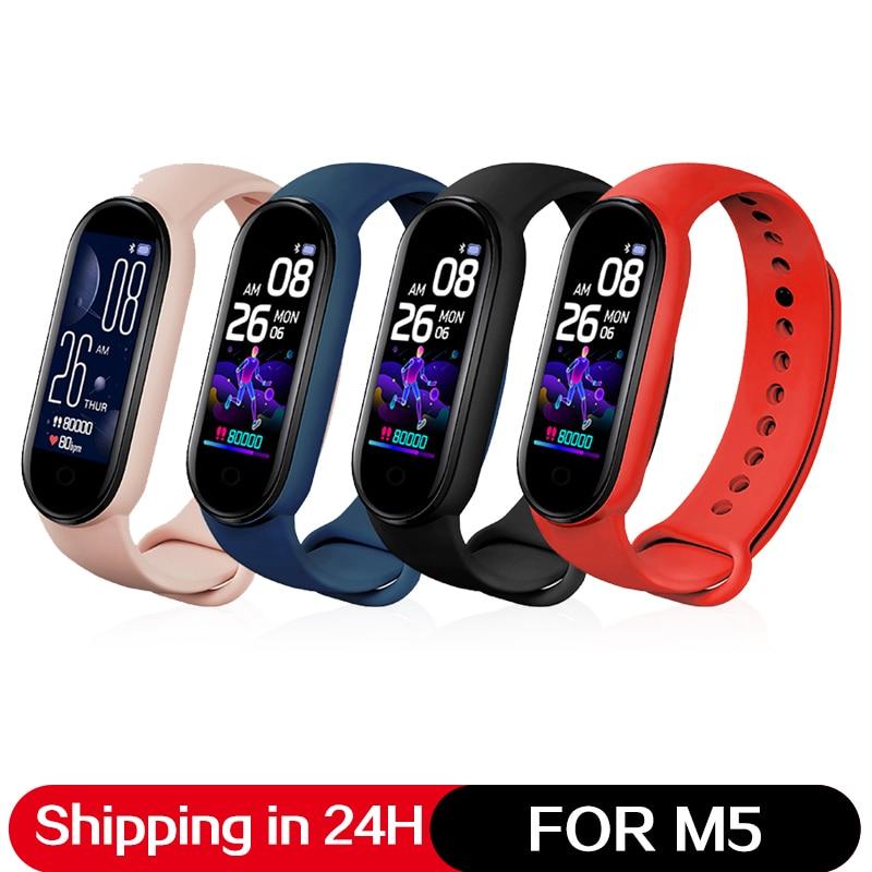 Bluetooth 5.0 Waterproof Smartband For Xiaomi Mi Band 5 Miband5 Smart Bracelet AMOLED Colorful Screen Heart Rate Fitness Tracker