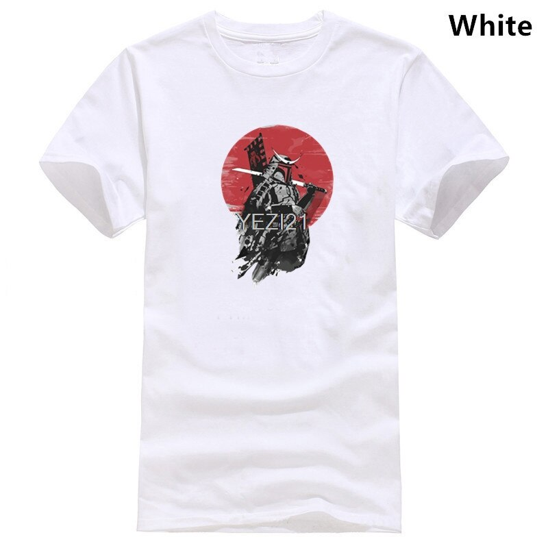 Boba Fett, playera de samurái moderna con estrellas Wars, camiseta negra para hombres, Tops de Estilo Vintage japonés, Camiseta de algodón con cuello redondo para verano XS