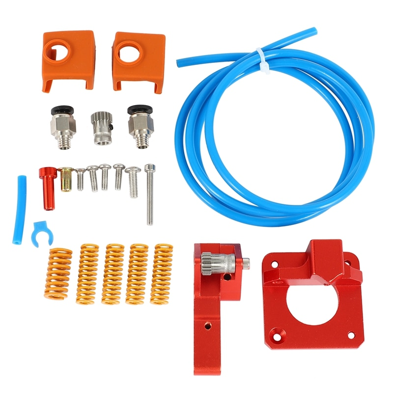 3D Printer Accessories PTFE Spring Double Gear Right Hand Double Extruder Kit for Creality CR-10S PRO Ender-3