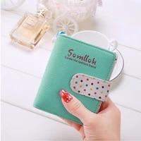 new 2021 women pu zipper hasp wallets fashion female brand purse coin pouch multi functional cards holder cute mini short wallet