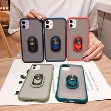 With Ring Bumper Phone Case for Samsung Galaxy S20 S21 Ultra S8 S9 S10 Plus Lite S20 FE Luxury Holde
