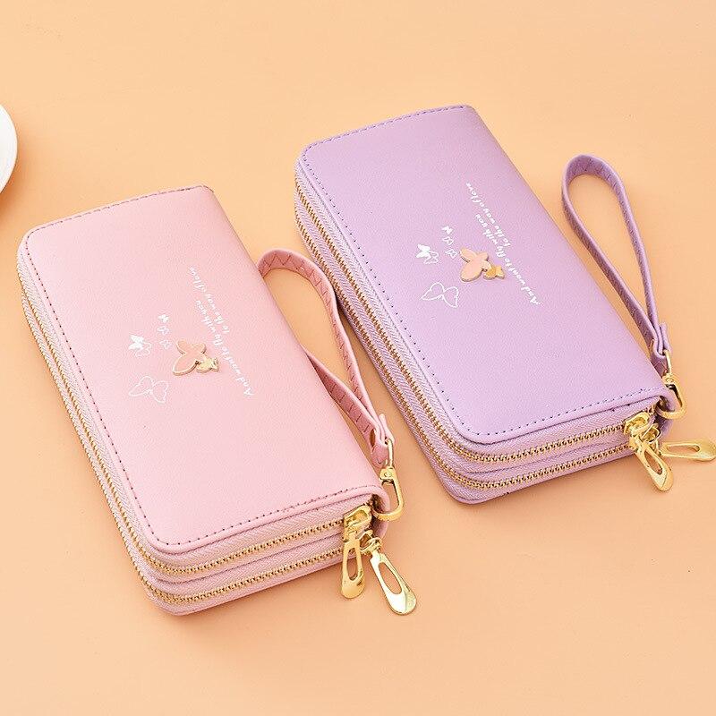 Long Women's Wallet High Capacity Ladies Purse Fashion Zipper Pu Coin Card Holders Clutch Handbag Mo