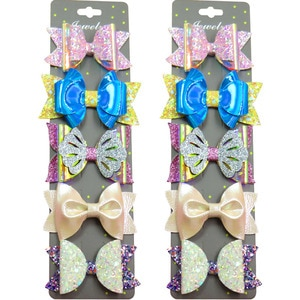 10PCS/LOT Lovely Hollow Sequin Girls Clip Bows Child Hair Knot Creativity Handmade Hairpins Fashion Hair Accessories For Kids