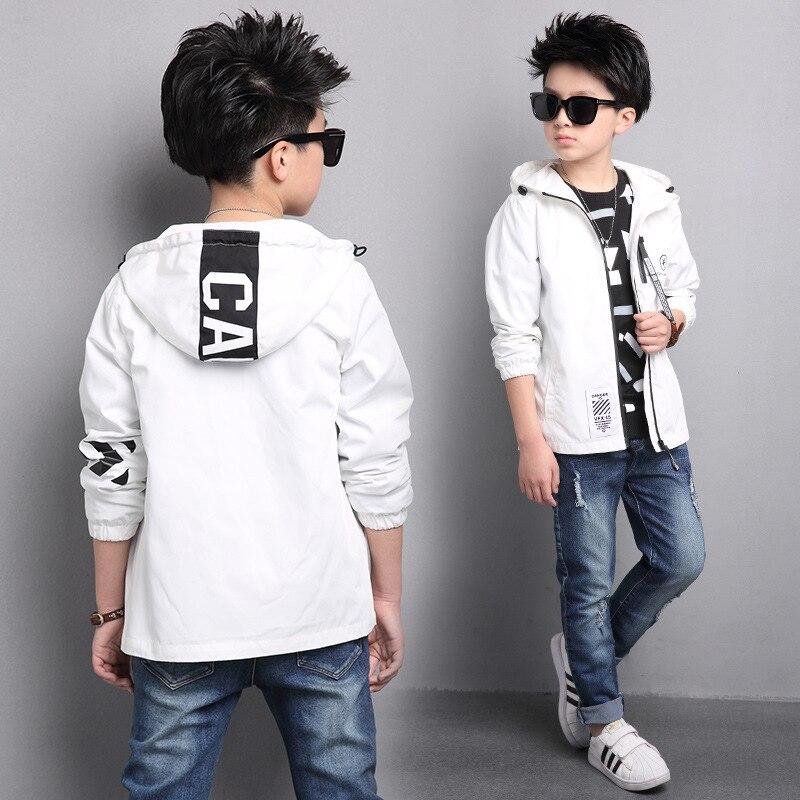Chaqueta para niños otoño ropa para niños 2019 nuevo estilo abrigo para niño grande estilo coreano gabardinas primavera adolescente ropa Deportiva 15Yrs
