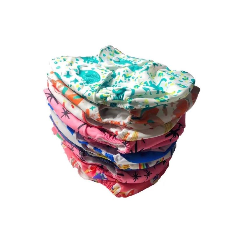 50pcs/set Baby Ecological Diaper Reusable Washable Nappies Adjustable Waterproof Training Pants
