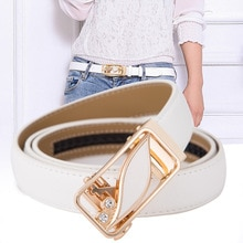 High Quality Genuine Leather Women's Automatic Buckle Fashion Adjustable Flower Belt  Ladies Dress J