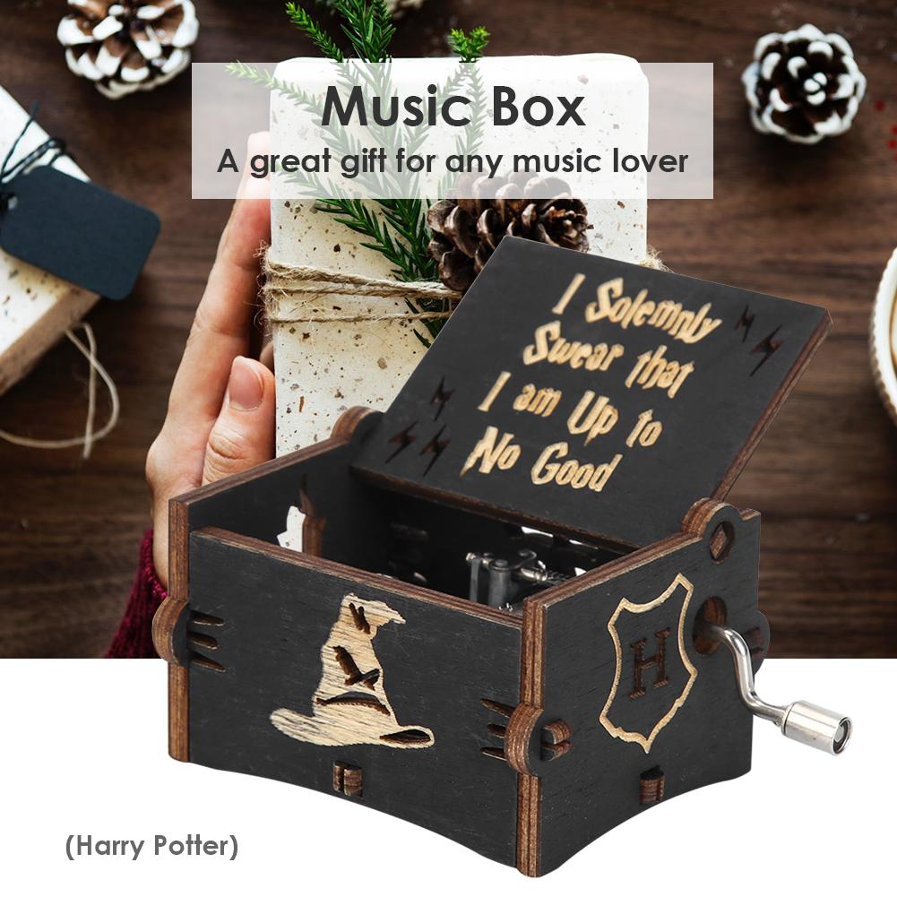 9 Style Vintagewooden Hand Music Box Exquisite Elegant Music Box Gift Home Decoration Ornaments Chil