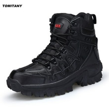 Outdoor Sports Tactical Men Boots Hiking Shoes for Mountain Shoes for Camping Climbing Imported Leat