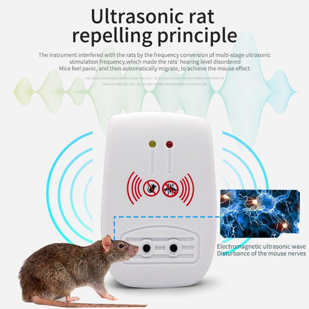 EU/US/AU/UK Plug Mosquito Lamp Photocatalysis Ultrasonic Mosquito Killer Repeller Home Electronic Mo
