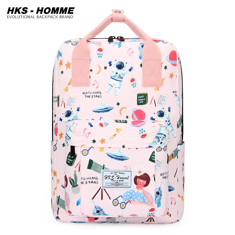 2021 new printing backpack fashion youth korean style shoulder bag laptop backpack schoolbags for teenager girls travel backpack