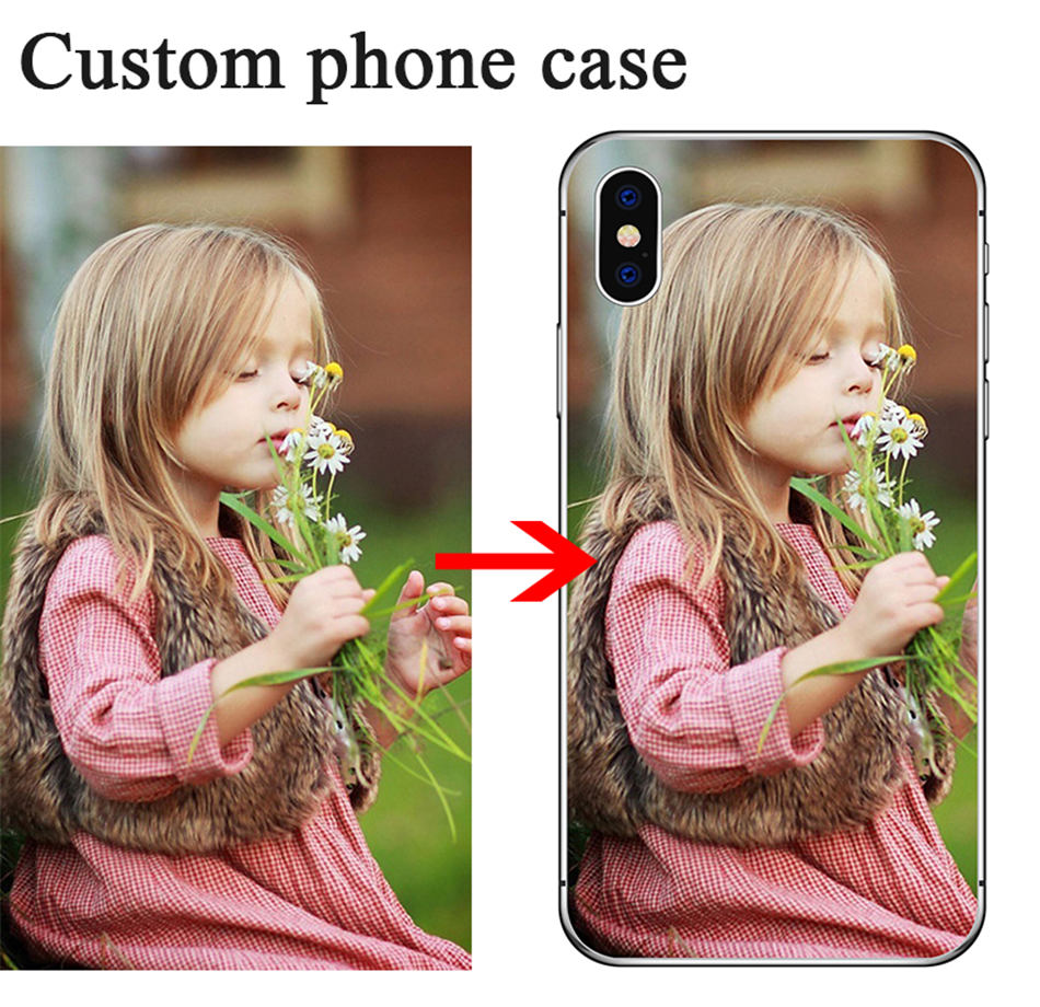 Étui pour samsung Photo en silicone personnalisé A50 A6 A8 J6 Note 9 S9 S8 iphone XS Max XR pour Huawei Mate 20 Lite P20 Xiaomi A2 Lite A1
