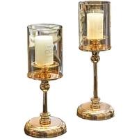 nordic style light luxury candlestick dining table vintage ornament home candlestick alloy titular de la vela home decor bs50zt