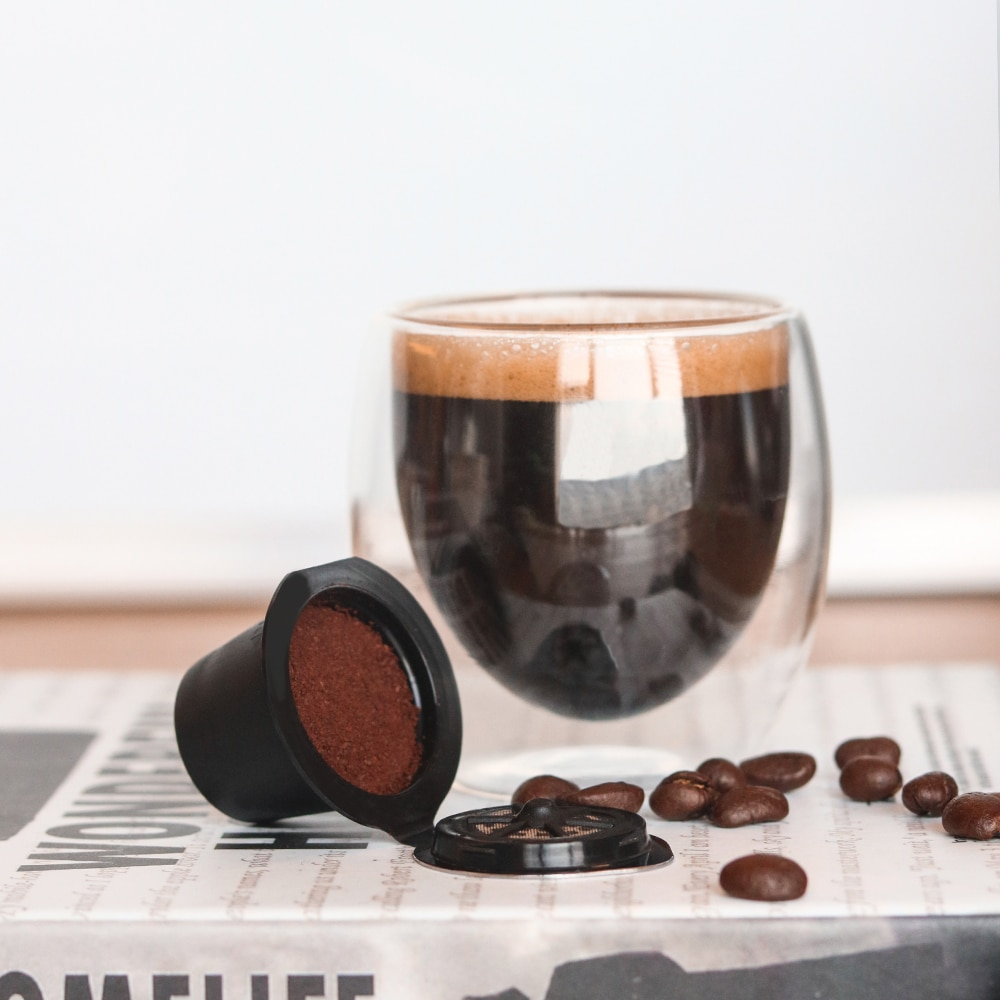 Cápsula de café reutilizable rellenable Compatible con filtro de cestas para cápsulas blandas y doradas