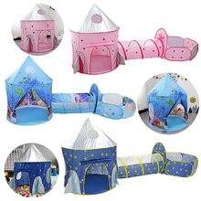 Enfant tunnel vaisseau spatial 3 en 1 tente maison jouer jouets pliable enfants ramper Portable océan piscine petites maisons pour filles et garçons