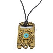 La légende de Zelda collier souffle de la sauvage Logo mauvais œil motif rétro gothique pendentif corde chaîne hommes Cosplay bijoux cadeau