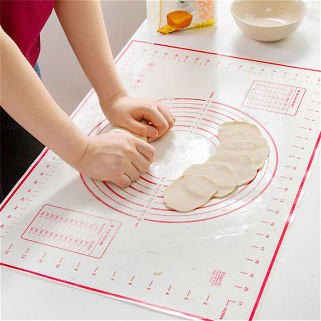 Silicone Non-Stick Silicone Thickening Mat Rolling Dough Liner Pad Pastry Cake Bakeware Paste Flour Table Sheet Kitchen tools