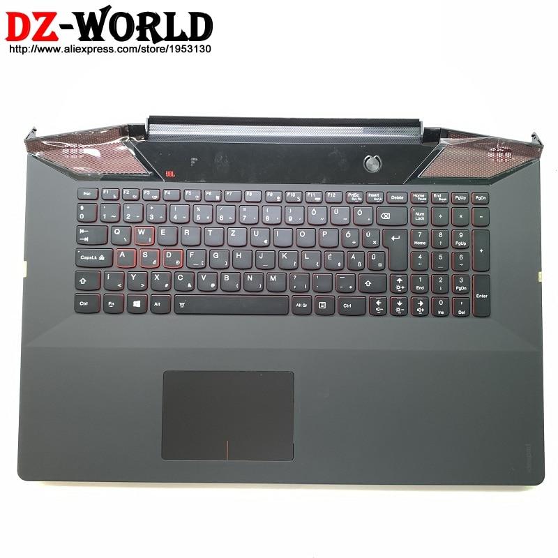 جديد/الاصليه و Palmrest حالة العلوي مع المجر الخلفية لوحة المفاتيح لوحة اللمس لينوفو ينوفو Y700-17ISK C غطاء 5CB0K37603