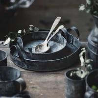 vintage wrought lron storage tank handmade antique galvaninzed zinc kitchen storage bins set cup set tray photographing crafts