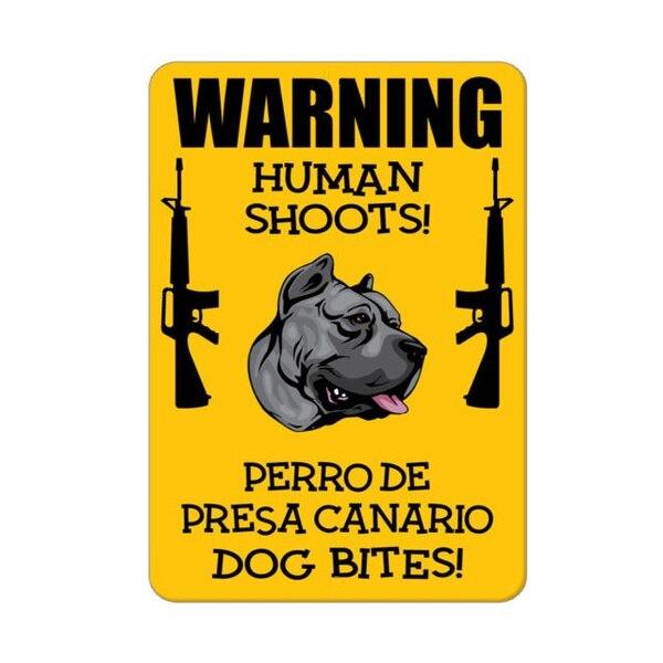 Póster Artístico para pared De café, cartel De advertencia De disparos humanos...