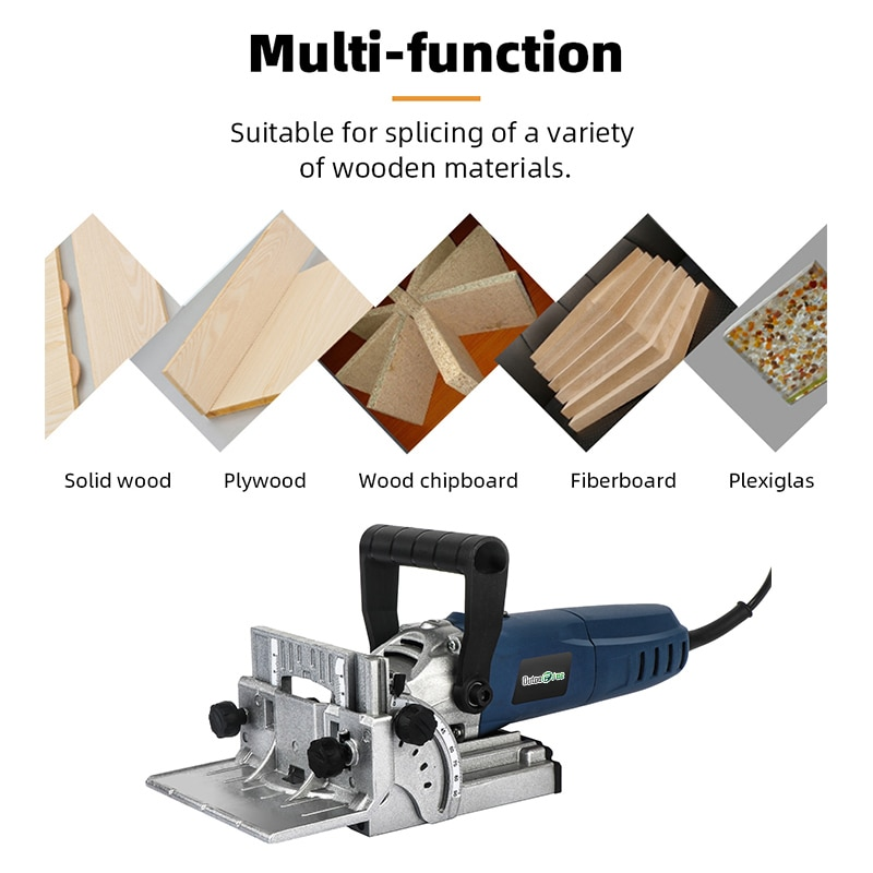Woodworking Tenoning Machine Biscuit Machine Puzzle Machine Groover Copper Motor 900W Biscuit Jointer Electric Tool enlarge