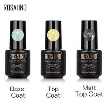ROSALIND Top And Base Coat Gel Polish Long Lasting Reinforce 7ml Hybrid Varnishes Manicure UV Gel La