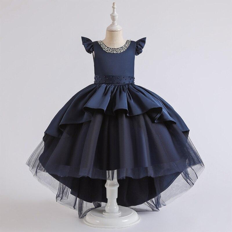 2020 vestido de noche de la dama de honor del desfile adolescente para niñas princesa niñas niños vestidos de encaje arco fiesta y vestido de boda