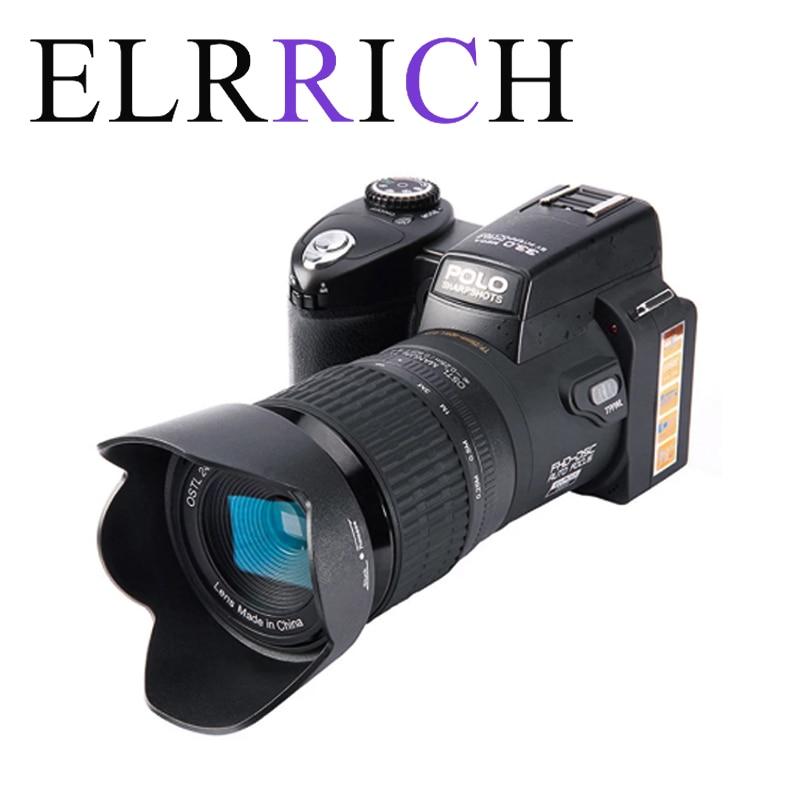 ELRRICH 2021 HD كاميرا رقمية بولو D7100 33 مليون بكسل التركيز التلقائي المهنية SLR كاميرا فيديو 24X زووم بصري ثلاثة عدسات