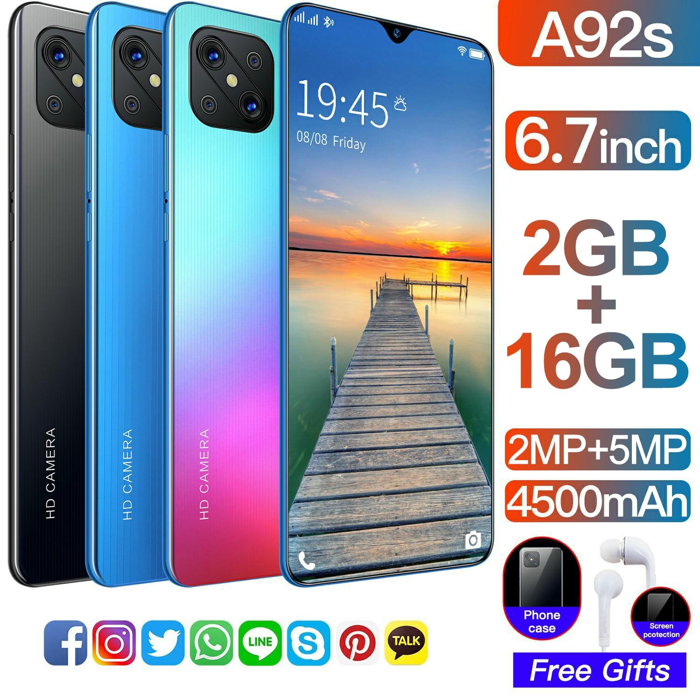 blackview a9 pro 5 0 inch 2gb 16gb smartphone blue Global VersionNew Opp0 Smartphone A92s 2GB Ram 16GB Rom 6.7 Inch Screen 4500mAh Unlocked Dual SIM  Cellphone Mobilephone Celular