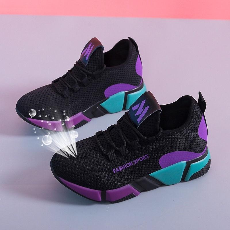 Женская обувь для бега; Новинка 2020 года; Брендовые женские кроссовки; Дышащая женская обувь на платформе; Спортивная обувь; Мягкая обувь на плоской подошве; Basket Femme