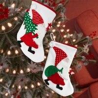 christmas stockings santa claus sock gift kids sweet candy gift bag snowman deer pocket hanging xmas tree ornament new year 2022