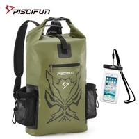 piscifun angry face 20l 40l 50l dry backpack with waterproof phone case dry bag fishing boating swimming canoeing camping hiking