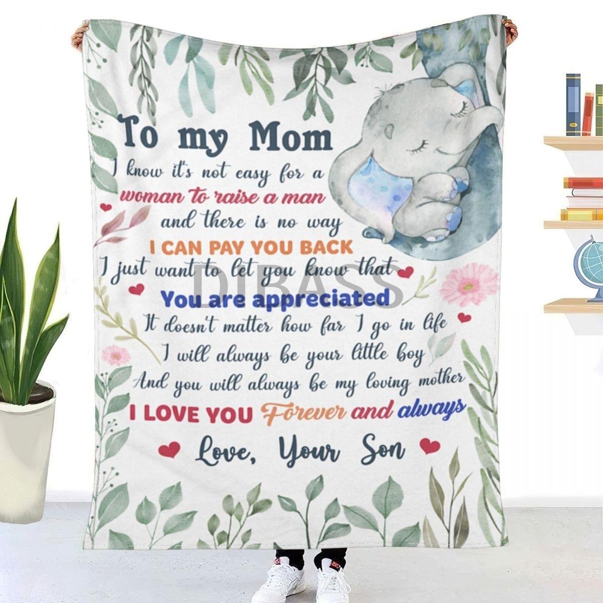 أنت محل تقدير ؛ هدية مذهلة لأمي شيربا ثلاثية الأبعاد نسيج فلانل مطبوع رمي بطانية ل سوبر لينة البطانيات ، غرفة نوم أريكة ديكو