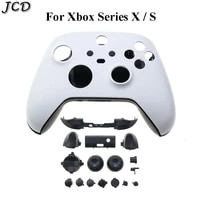 jcd for xbox series x s controller protective cover shell front black housing shell case and full set buttons